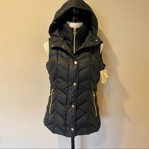 Michael Kors Down Puffy Hooded Vest - XS